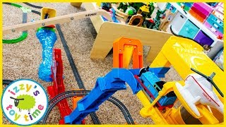 Flying Thomas and Friends Trackmaster Challenge! Fun Toy Trains for Kids