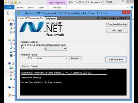 Enable the .NET Framework 3.5 in Control Panel