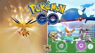 ZAPDOS SHINY CON SUERTE Y BÚSQUEDA DEL KYOGRE SHINY! [Pokémon GO-davidpetit]