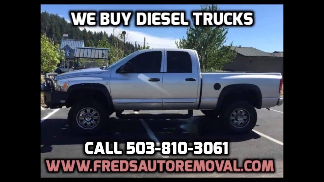 Cash for Diesel Trucks Portland We Buy Diesel Trucks Portland Sell ...