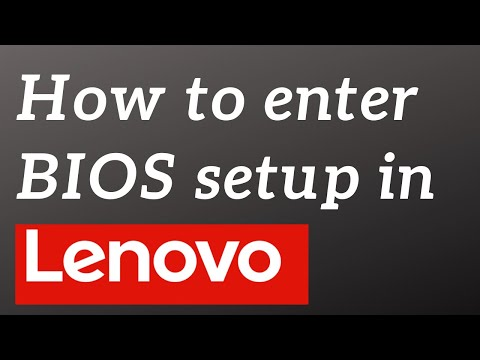 How to enter BIOS setup in Lenovo G50 [HD]