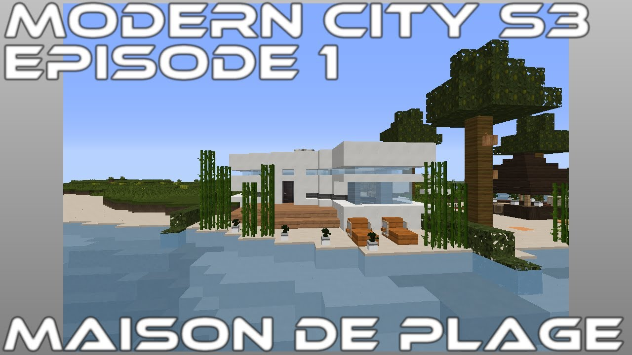 Minecraft - S3 Episode 1 - Maison de plage - YouTube