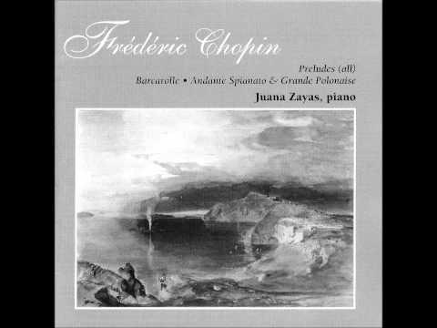 JUANA ZAYAS plays CHOPIN 24 Préludes Op.28 (1996)