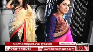 Homeshop18.com - Pack Of 2 Designer Sarees By Alveera