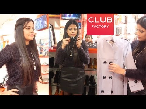 c007438ac4e5 INDIA'S FIRST OFFLINE CLUB FACTORY STORE AND TRYON HAUL | Sana K - YouTube