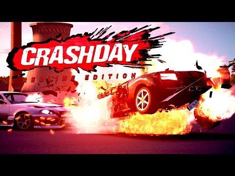 ГОНКИ НА ВЫЖИВАНИЕ! - ЭТО ШИКАРНО! - Crashday Redline Edition