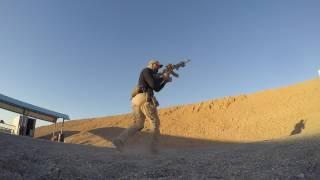 AK47 & Glock19 Shooting Training Iraq 25 Nov  2016