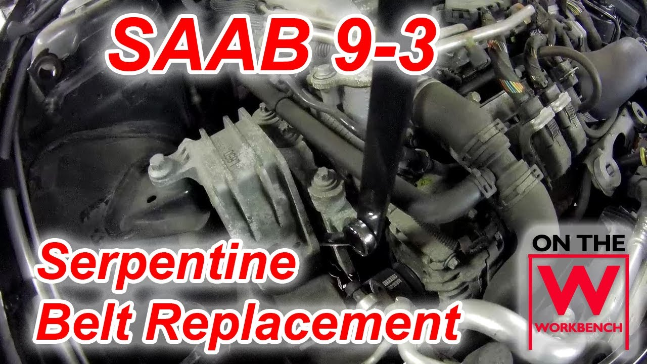 medium resolution of quick tip saab 9 3 serpentine belt