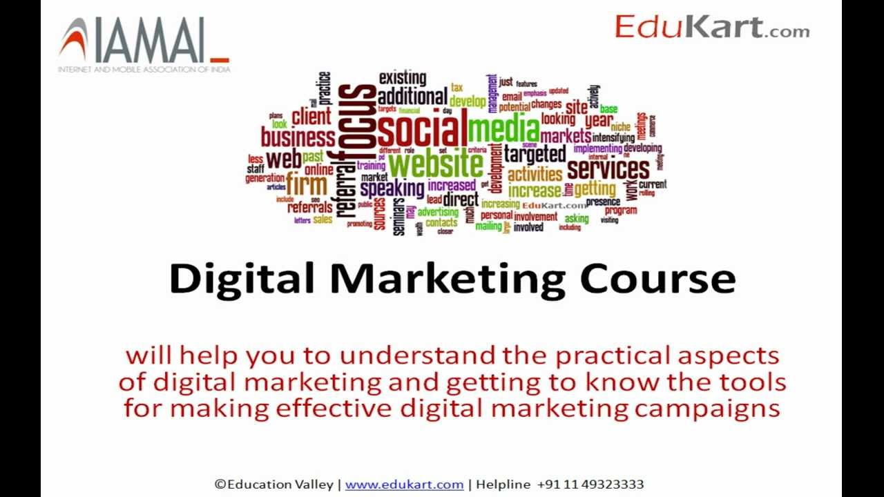 Certificate Course In Digital Marketing Certified By Iamai Youtube
