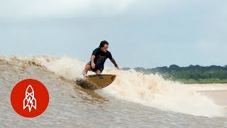Surfing the Amazon Rivers Endless Wave