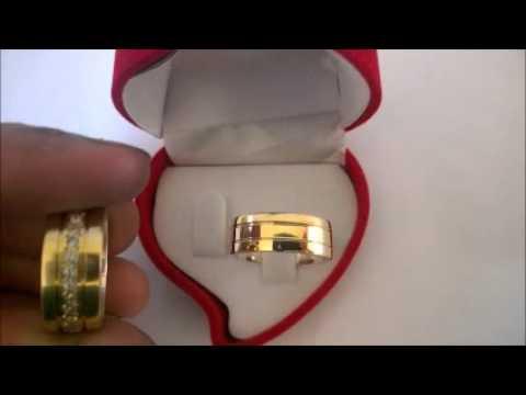 8626a9957b3 Par De Alianças De Moedas Antigas 8mm com pedras em volta - YouTube