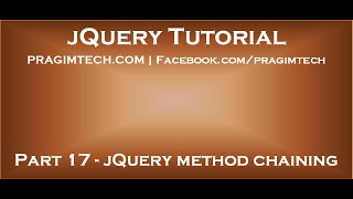 jQuery method chaining