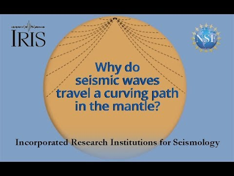 Seismic Waves Travel Curving Path Thru Earth (Educational)