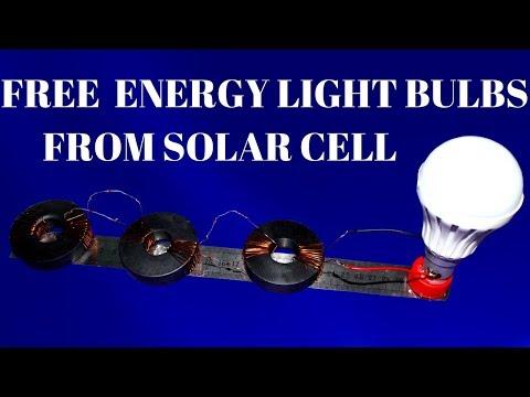 100% Free Energy Light Bulbs For Life Time From Solar Cell - Solar cello Light Bulbs