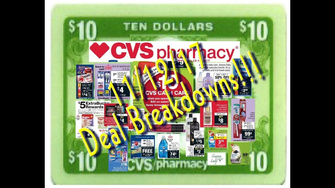 cvs 11 12 17 deals breakdown for the week with freebies youtube