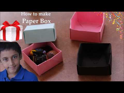 How to make a paper box | DIY-Paper box | Amma making a paper box for Shree