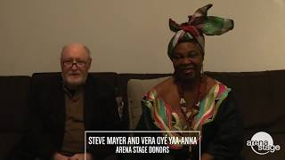 Arena Stage donors Steve Mayer and Vera Oye Yaa-Anna tell us why they support the arts YouTube Videos