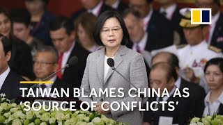 China is 'seriously challenging' peace in Taiwan, President Tsai Ing-wen says