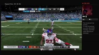 kevindj325's Live Madden football 19 New york Giants vs Detroit Lions full games