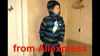 Алиэкспресс Одежда На Осень Зиму 2017 с примеркой    Куртка и Брюки    Костюм для мальчика