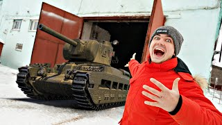 Купили огромный гараж на аукционе а там танк