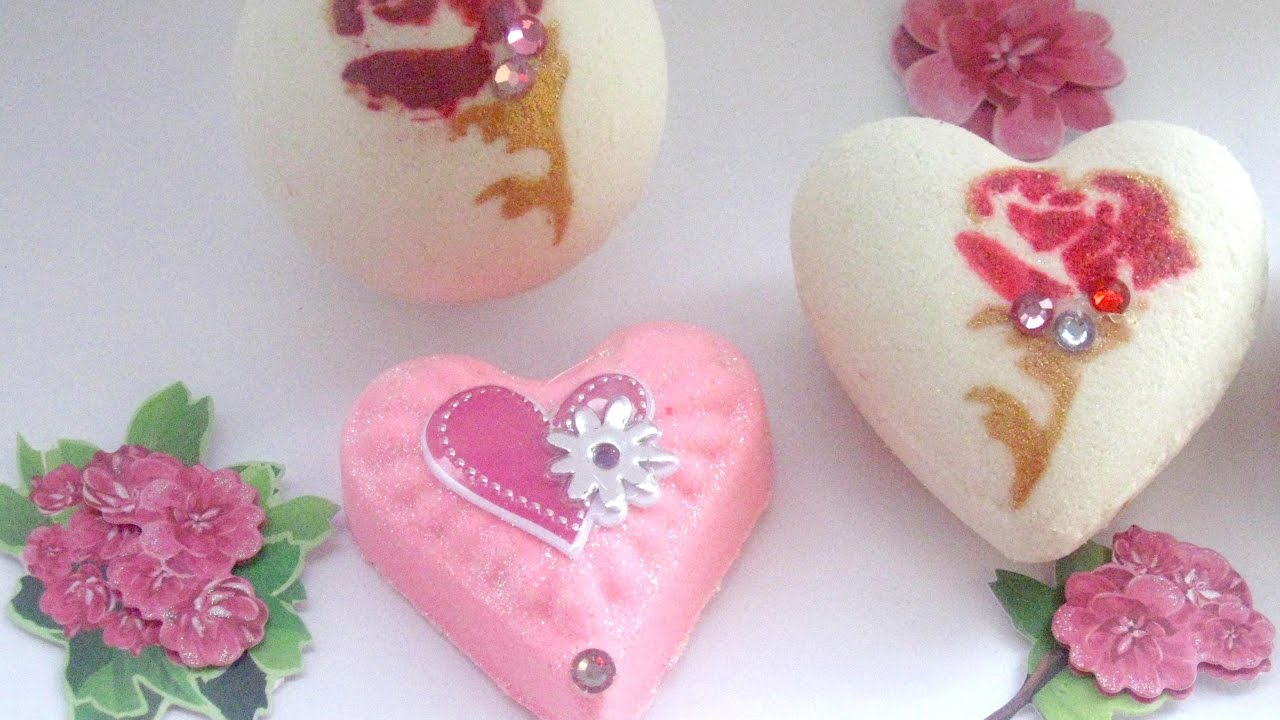 Lush scent Mother\'s day victorian bath bomb stencil on rose ...