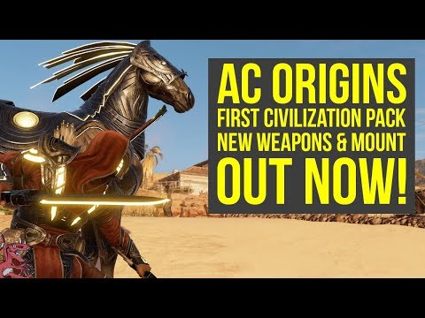 Assassin's Creed Origins First Civilization Pack New Mount & Weapons OUT NOW! (AC Origins DLC)
