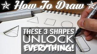 HOW TO DRAW - Basic Shapes UNLOCK EVERYTHING!