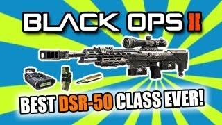Black Ops 2: BEST SNIPER CLASS SETUP | DSR-50 (BO2 Multiplayer Gameplay)