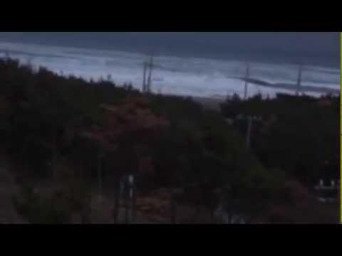Tsunami in Sanmu, Chiba Prefecture, Japan