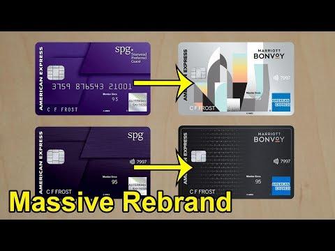 Marriott + SPG Credit Cards: Massive Re-branding