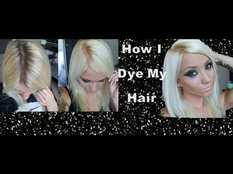 How I Dye My Hair Platinum Blonde Youtube