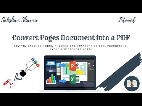 Convert Pages (Apple iWorks) Document into PDF, Word, Excel, & Powerpoint! | 2018 |