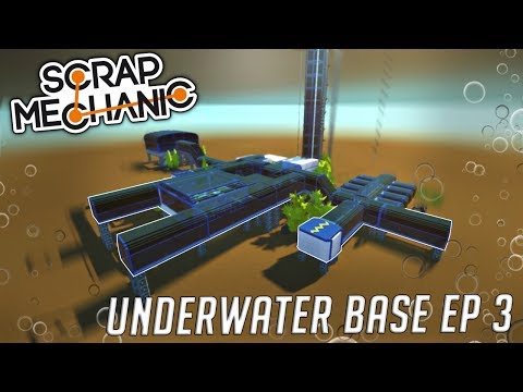 MOON POOL, LABORATORY, and DRILLER ROVER - (Underwater Base EP 3) - Scrap Mechanic Gameplay