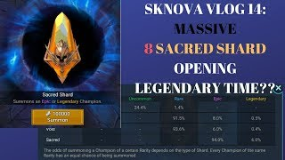 Raid Shadow Legends: SKNOVA VLOG 14 - MASSIVE 8 Sacred Shard Opening
