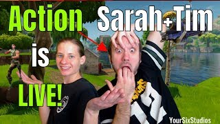 TIER 100 | Action Sarah + Tim (LIVE) | GIVEAWAY/GOAL @ 1k Subs! | FORTNITE GAMEPLAY (PS4)