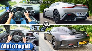 Mercedes Amg Gt C Vs Aston Martin Vantage 0 300km H Acceleration Sound Autobahn Pov By Autotopnl Youtube