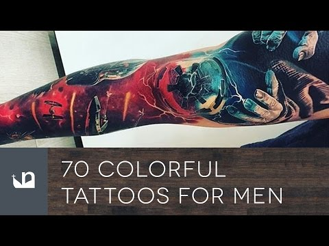 70 Colorful Tattoos For Men