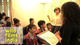 Teaching opera singing to Indian youngsters!