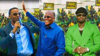 🔴#LIVE: ALI KIBA, DIAMOND NDANI YA JUKWAA MOJA LA CCM DODOMA, NAYE AMTUNGIA WIMBO MAGUFULI