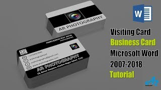 Gambar cover MS Word Tutorial: Unique Photographer Visiting Card in MS Word 2013 & Business Card in Word 2016