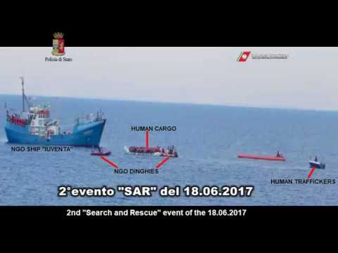 "NGO ship ""Iuventa"" caught colluding with traffickers and arrested."