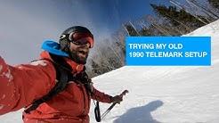 Telemark Evolution Ep4.: 1990 telemark skis