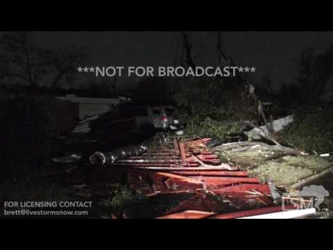 Extensive San Antonio Tornado Damage 02-20-2017 San Antonio, Texas