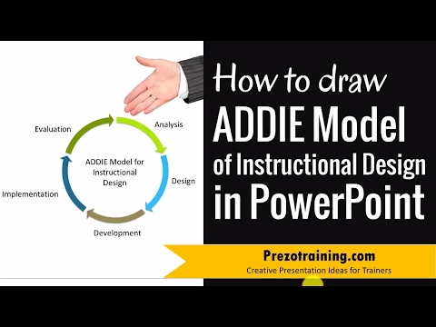 How To Draw Addie Model Of Instructional Design In Powerpoint Youtube