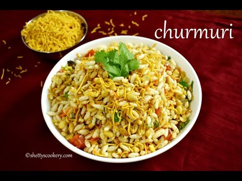 churmuri recipe | mundakki upkari recipe | no fire food
