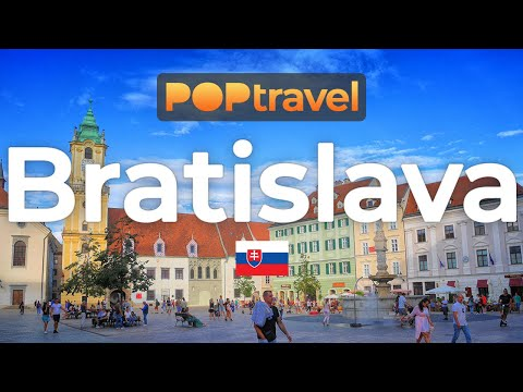 Walking in BRATISLAVA / Slovakia 🇸🇰- 4K 60fps (UHD)