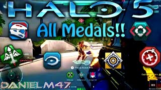 All new Halo 5 medals W/ descriptions!!
