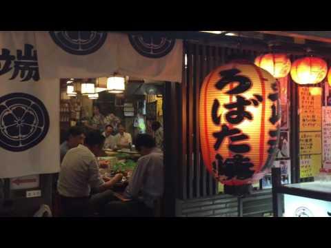 Night walking around Shinbashi Bar (Izaka-ya) area in Tokyo, Japan  Part 2/2