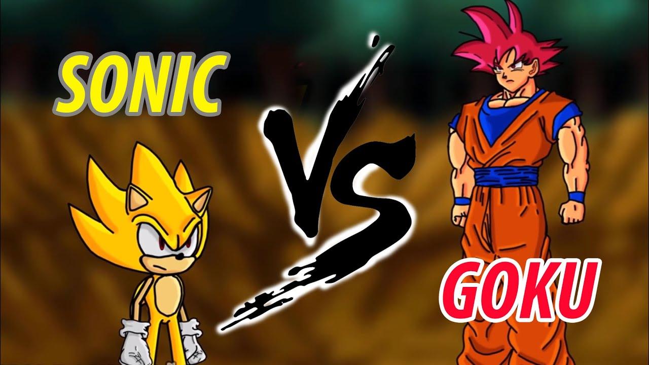 INILAH YANG TERJADI KALAU BATTLE TANPA KI KONTROL!! - GOKU VS SONIC Fan Sprite Animation #REACTION